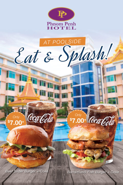 Burger Promotion at Pool by Phnom Penh Hotel